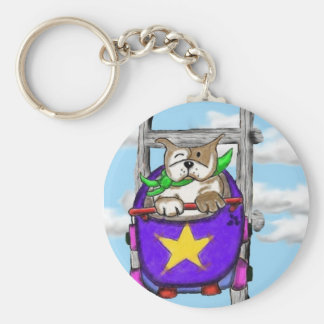Staffie Smiles - ROLLERCOASTER - key ring
