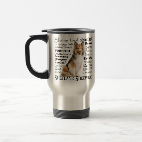 Staffie Traits Travel Mug