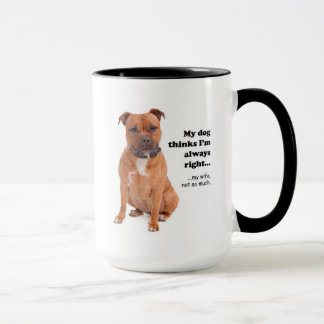 Staffie v Wife Mug
