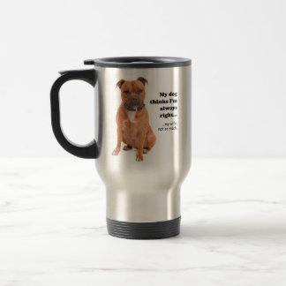 Staffie v Wife Travel Mug