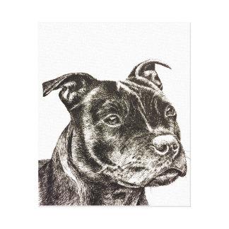 Staffordshire Bull Terrier Canvas