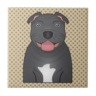 Staffordshire Bull Terrier Cartoon Tile