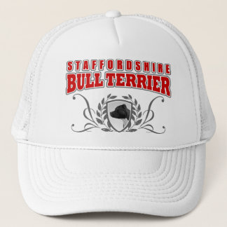 Staffordshire Bull Terrier COA red text Trucker Hat