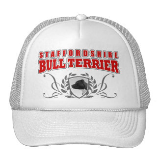 Staffordshire Bull Terrier COA red text Trucker Hat