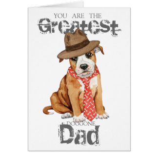 Staffordshire Bull Terrier Dad Card