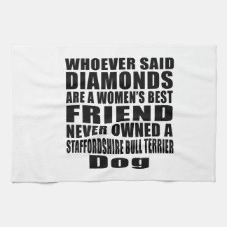 STAFFORDSHIRE BULL TERRIER DOG BEST FRIEND DESIGNS KITCHEN TOWEL