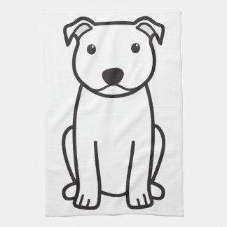 Staffordshire Bull Terrier Dog Cartoon Hand Towels
