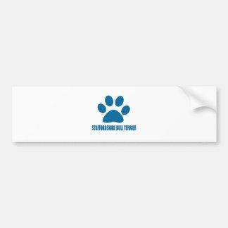STAFFORDSHIRE BULL TERRIER DOG DESIGNS BUMPER STICKER