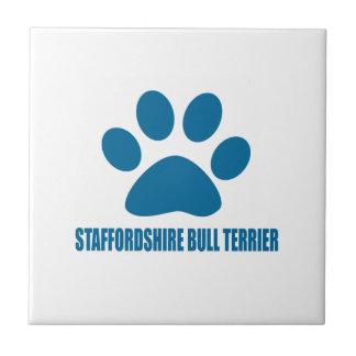 STAFFORDSHIRE BULL TERRIER DOG DESIGNS TILE