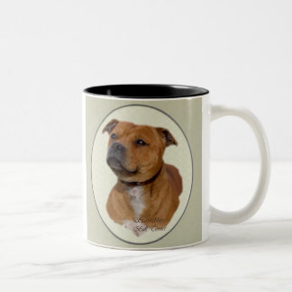Staffordshire Bull Terrier Gifts Two-Tone Coffee Mug