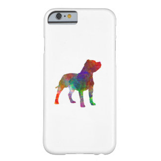 Staffordshire Bull terrier in watercolor Barely There iPhone 6 Case