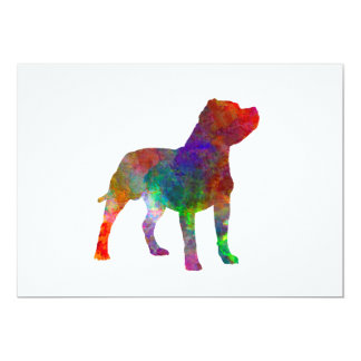 Staffordshire Bull terrier in watercolor Card