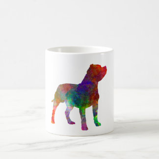 Staffordshire Bull terrier in watercolor Coffee Mug
