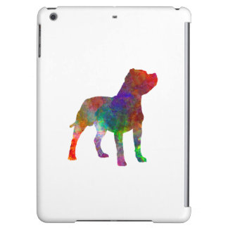 Staffordshire Bull terrier in watercolor iPad Air Cases