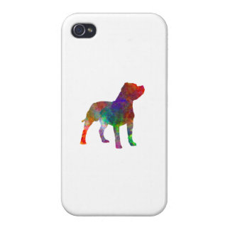 Staffordshire Bull terrier in watercolor iPhone 4 Case