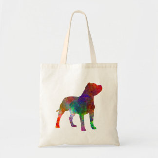Staffordshire Bull terrier in watercolor Tote Bag