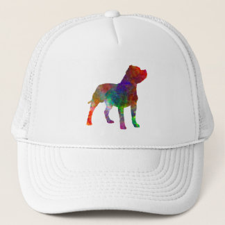 Staffordshire Bull terrier in watercolor Trucker Hat