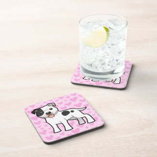 Staffordshire Bull Terrier Love Drink Coasters