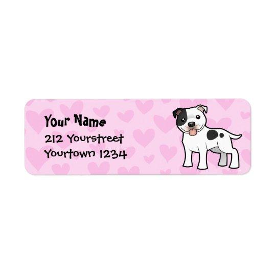 Staffordshire Bull Terrier Love Return Address Label