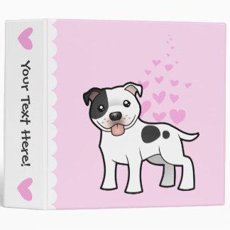 Staffordshire Bull Terrier Love Vinyl Binders