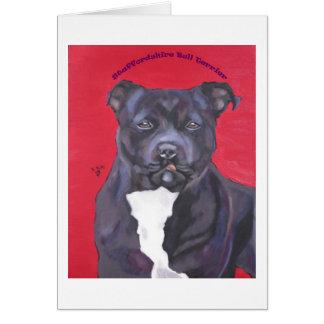 Staffordshire Bull Terrier notecard