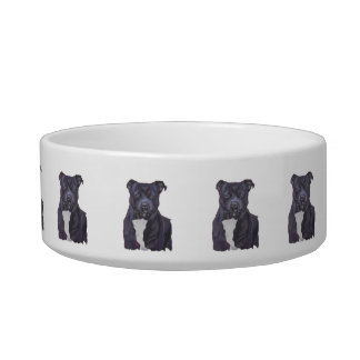 Staffordshire Bull Terrier Personalized Dog Dish