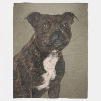 Staffordshire Bull Terrier Pet Portrait Fleece Blanket