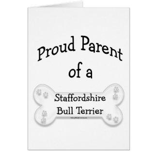 Staffordshire Bull Terrier Proud Parent Card