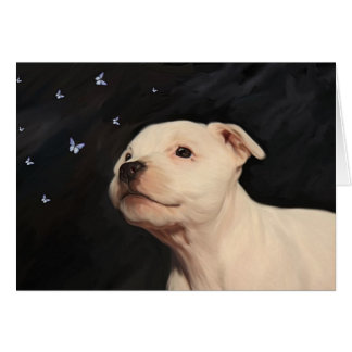Staffordshire Bull Terrier Puppy Card
