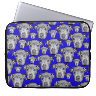 Staffordshire Bull Terrier Puppy Pattern, Laptop Sleeve