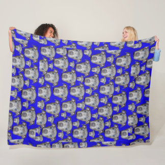 Staffordshire Bull Terrier Puppy Pattern, Large Fleece Blanket