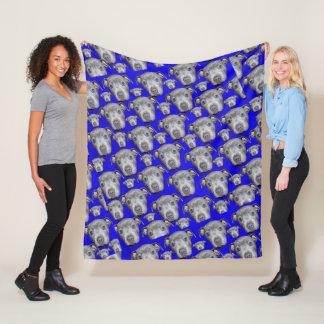 Staffordshire Bull Terrier Puppy Pattern, Medium Fleece Blanket