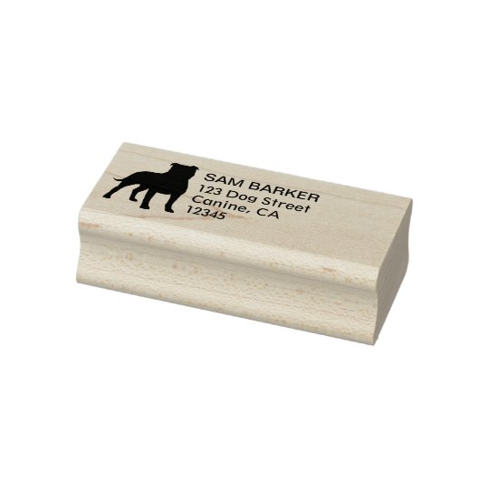 Staffordshire Bull Terrier Return Address Rubber Stamp