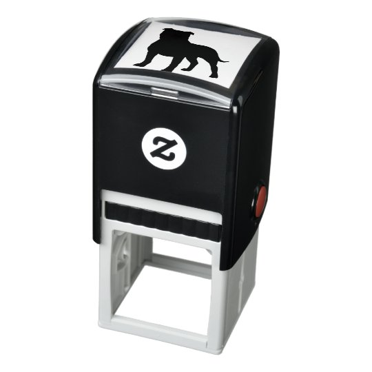 Staffordshire Bull Terrier Silhouette Self-inking Stamp