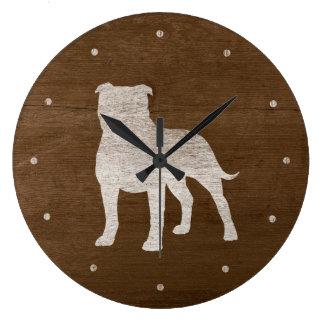 Staffordshire Bull Terrier Silhouette Wall Clock