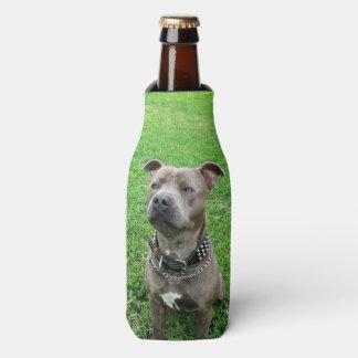 Staffordshire Bull Terrier,_Stubby_Holder. Bottle Cooler