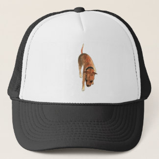 Staffordshire Bull Terrier Watercolour Dog Design Trucker Hat