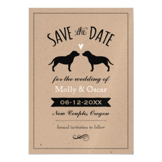 Staffordshire Bull Terriers Wedding Save the Date Magnetic Invitations