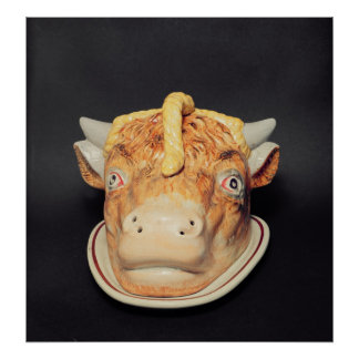 Staffordshire cheese dish in shape of a cow's poster