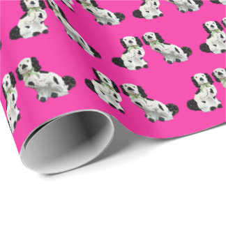 Staffordshire Dogs on Pink by Redux121DesignStudio Wrapping Paper