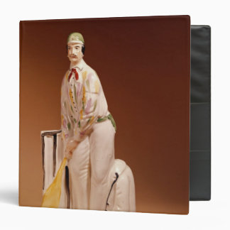 Staffordshire figure of a cricketer, 1865 3 ring binders