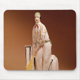 Staffordshire figure of a cricketer, 1865 mousepads