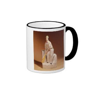 Staffordshire figure of a cricketer, 1865 coffee mug