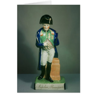 Staffordshire figure of Napoleon Bonaparte Card