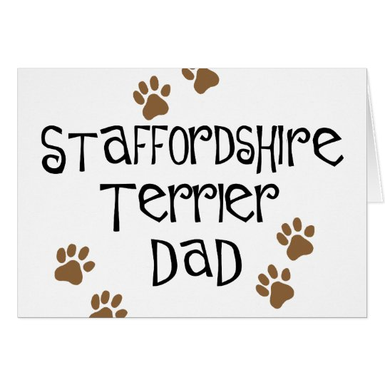 Staffordshire Terrier Dad Card