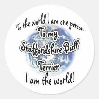 Staffordshire Terrier World 2 - Sticker