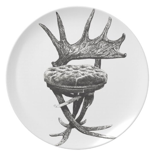 Stag antlers chair plate