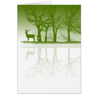 Stag At Dusk Card