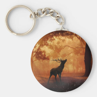 Stag at Sunset Keychain