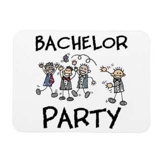 Stag Bachelor Party Vinyl Magnet